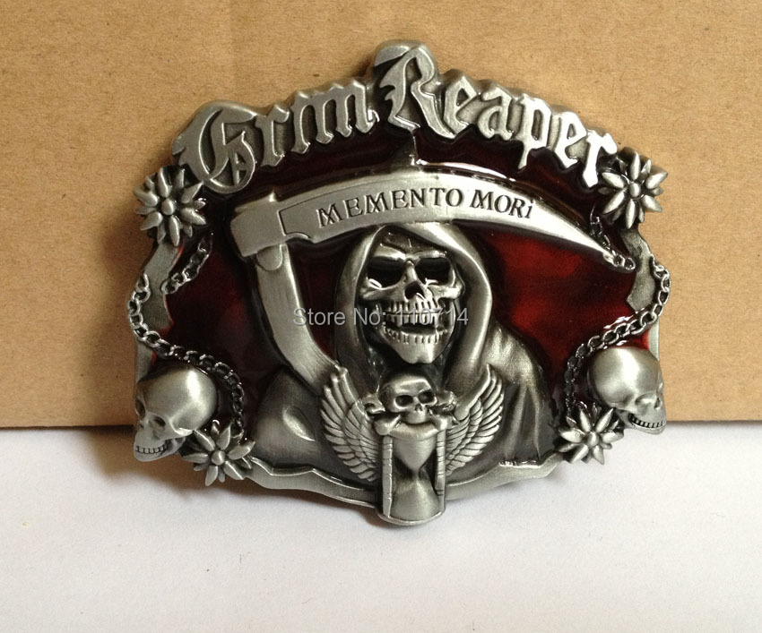 SKULL MEMENTO MORI belt buckle with pewter finish SW B10 036 suitable for 4cm wideth belt