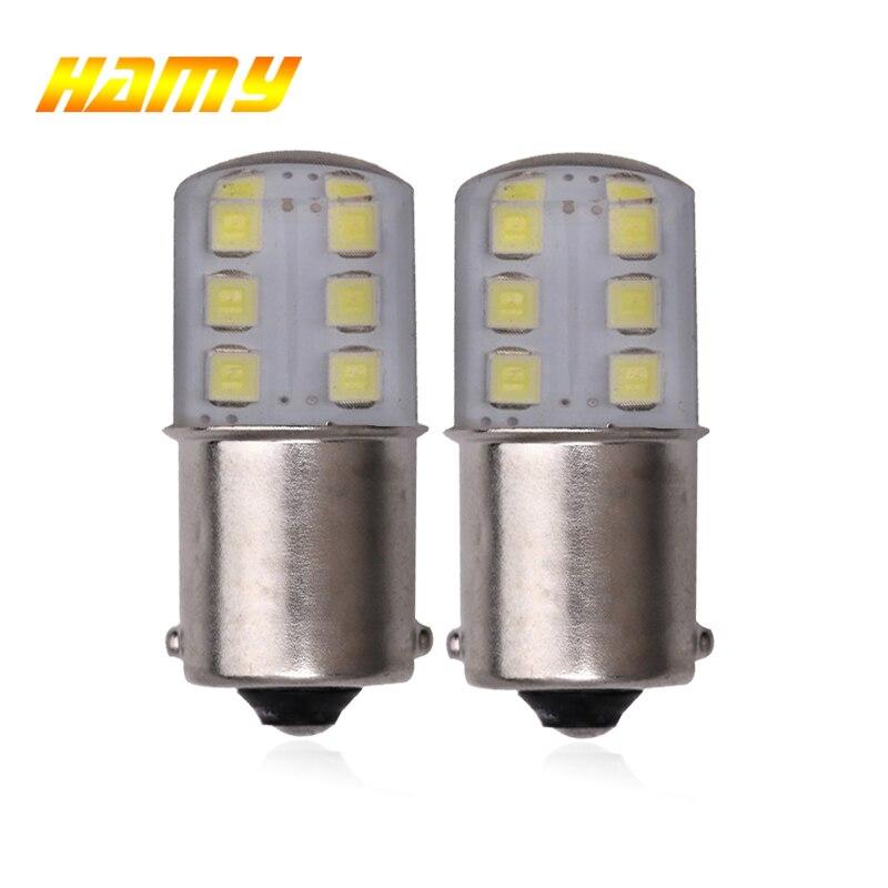 2x Car LED Signal Bulbs P21W 1156 BA15S 1157 BAY15D 12V Turn Lamp Super Bright Auto Reverse Parking Brake Lights 12V White Red