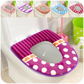Free shipping Antibacterial thick super soft velvet fabric Toilet Seat Cover, potty cover, toilet seat Toilet mat, home supplies