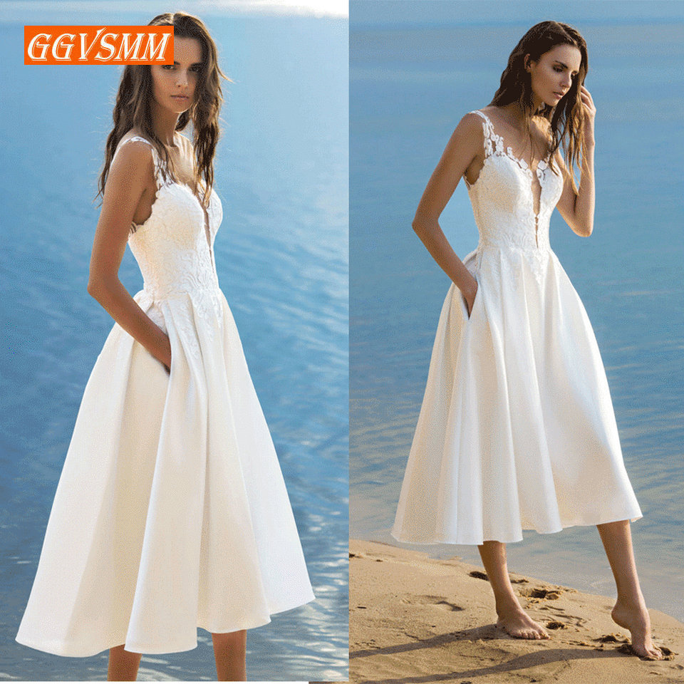Bridal Dresses 2019: Elegant Short Wedding Dress 2019 Wedding Gowns Women