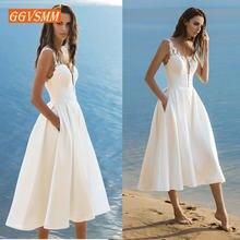 97980abb62 Popular Simple Tea Length Wedding Dresses-Buy Cheap Simple Tea ...