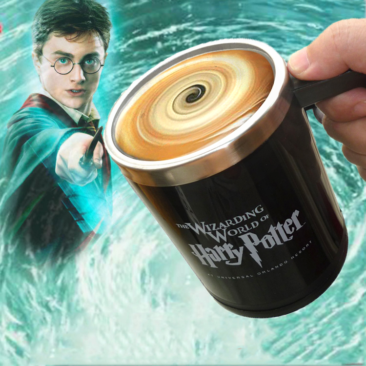 Harry Potter Automatic self stirring mug Cup harry potter Coffee mug Cups Stainless Steel Cup Surprice gift for best friend