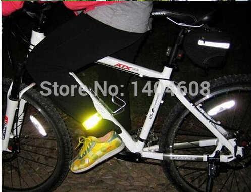 러닝 낚시 사이클링 반사 스트립 경고 자전거 안전 자전거 바인딩 바지 밴드 다리 스트랩 자전거 액세서리 반사 테이프