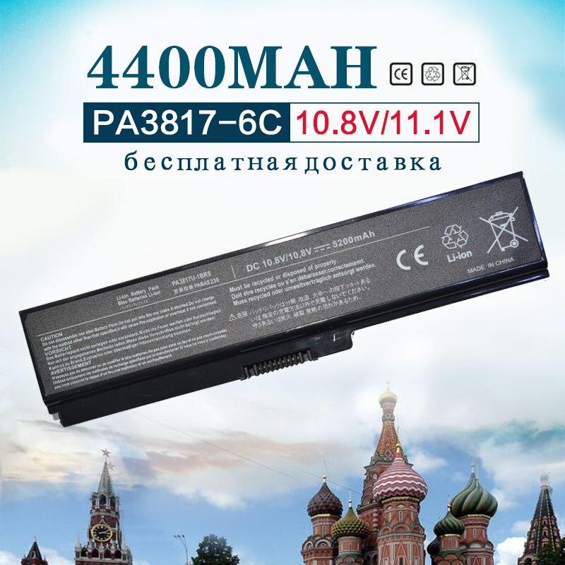 4400mah 11.1v 6Cell Laptop Battery for Toshiba Satellite PA3