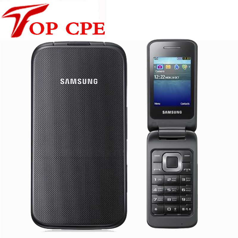 Samsung C3520 Original Unlocked GSM Bluetooth Refurbished Mobile-Phone Flip-1.3mp English