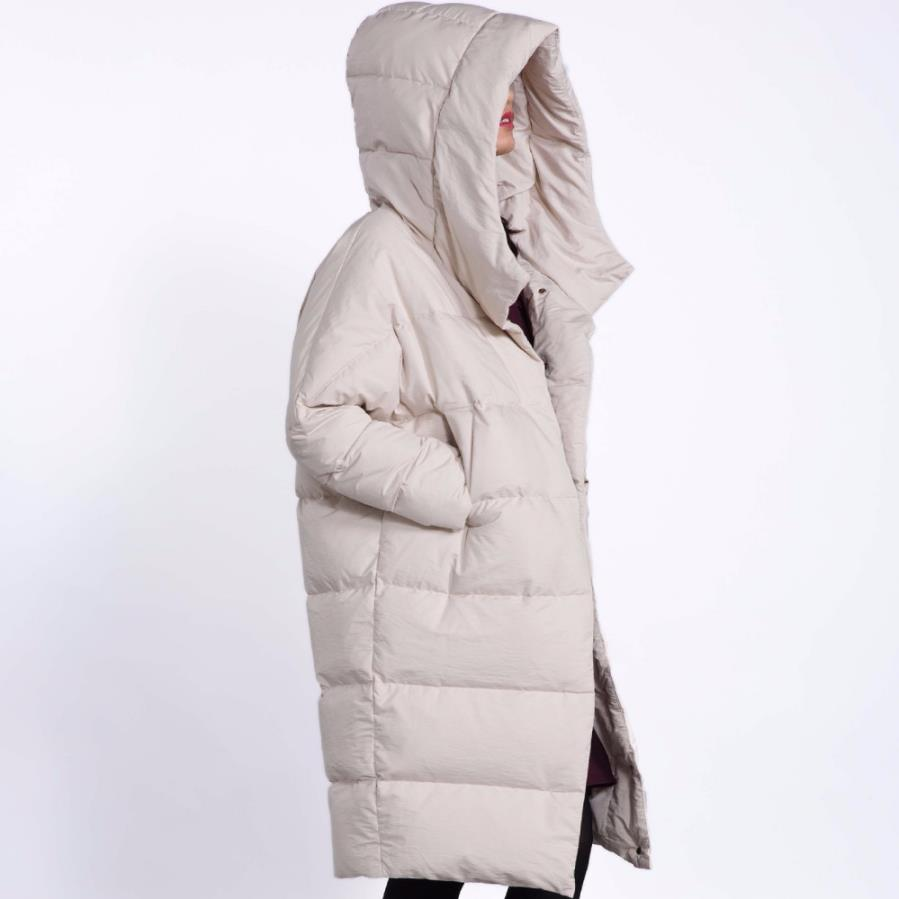 Winter fahion brand good quality over the knee longer 90% duck down coat female plus size single breasted warm down jacket wq132
