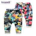 2017 novas crianças meninos sport calças haren calças de camuflagem de algodão de moda ao ar livre calças patchwork calças basculador roupas miúdo