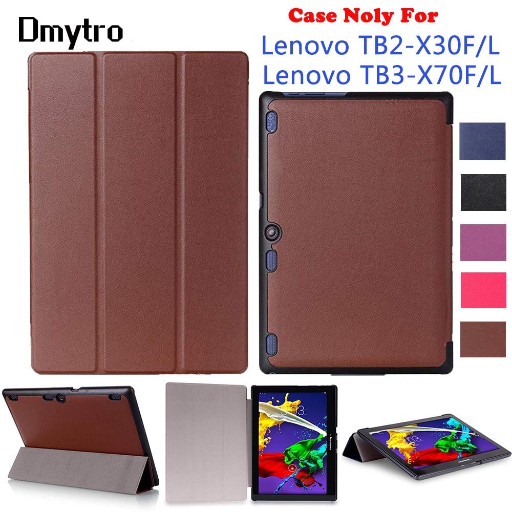 Para Lenovo Tab2 (Modelo: TB2-X30F/L/M) virar inteligente Fique Shell Capa Para Lenovo Tab3 (Modelo: TB3-X70F/L) pu de Couro Da Tampa Do Caso