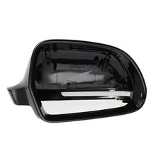 Right Side Rearview Mirror Cover Carbon Fiber Shell Rear View Cap For Audi A4D8/A6LC6 2009-2011 carbon fiber replace rearview mirror cap covers shell for audi a4 b9 standard allroad 2017 with side assist 2pc white chrom