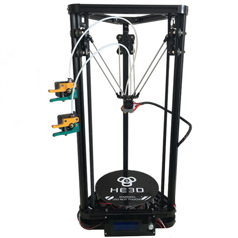 HE3D K200 dual heads delta 3d printer kit autoleveling full metal extruder hotend with heatbed- support multi material new upgrade he3d high presicion k200 dual aluminium extruder delta diy 3d printer with heat bed supporting multi filaments%2