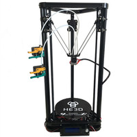 HE3D K200 dual heads delta 3d printer kit autoleveling full metal extruder hotend with heatbed support multi material