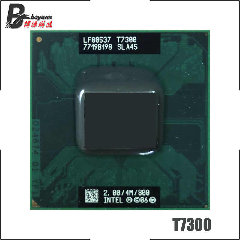 Intel Core 2 Duo T7300 SLA45 SLAMD 2.0 GHz Dual-Core Dual-Thread di CPU Processore 4M 35W Socket P