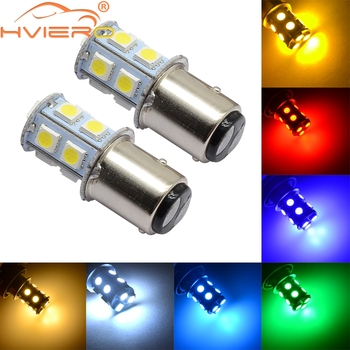 2X 1156 BA15S P21W 13SMD 5050 White Blue Red Car Led Rear Turn Signal Lights Brake Tail Lamps Auto Parking Reverse Bulbs DC 12V