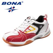 BONA Yeni Varış Klasik Tarzı Erkek Tenis Ayakkabıları Lace Up Erkekler spor ayakkabı Açık koşu ayakkabıları Rahat Ücretsiz Kargo