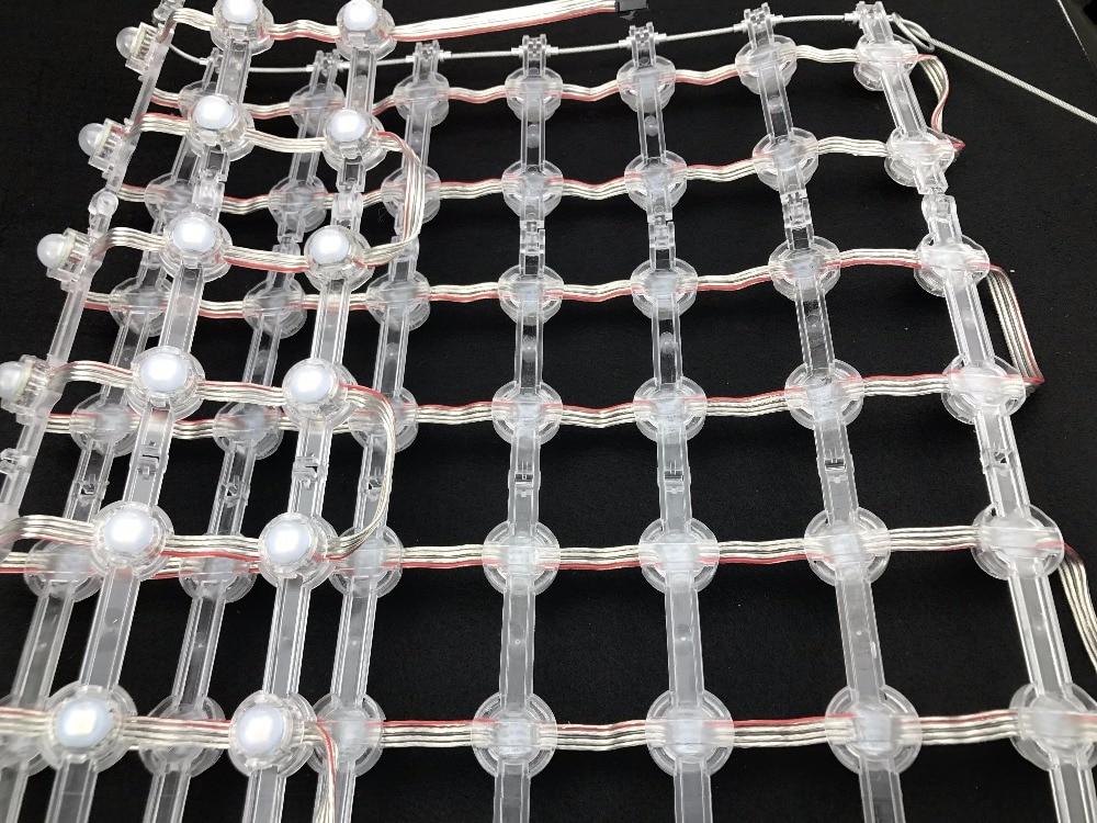 Pas de 55mm DC12V WS2815 20mm diamètre led matrice de pixels; IP68 évalué; taille: 24 pixels * 12 pixels (126 cm * 60 cm); rvb polychrome