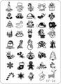 2014 НОВЫЙ 2 шт./лот Рождественский Дизайн Стали Konad Штамп Штамповка Nail Art 21*14.5 см XL Размер Плиты Изображения шаблон Дизайнер Горячее Надувательство
