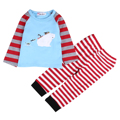 Casual Toddler Kids Baby Boy Girl Clothes T-shirt+Striped Pants 2PCS Outfits Set 1-6T