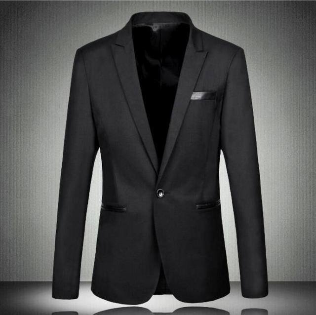 Осень Формальный Пиджак Slim Fit Смокинг на заказ Мода Жениха мужские Бизнес Платье Пиджаки высокое качество костюмы куртка