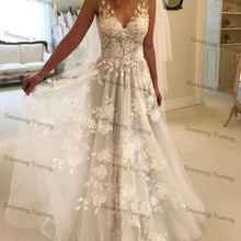 dreaming truing Wedding Dresses V-neck Floor Length
