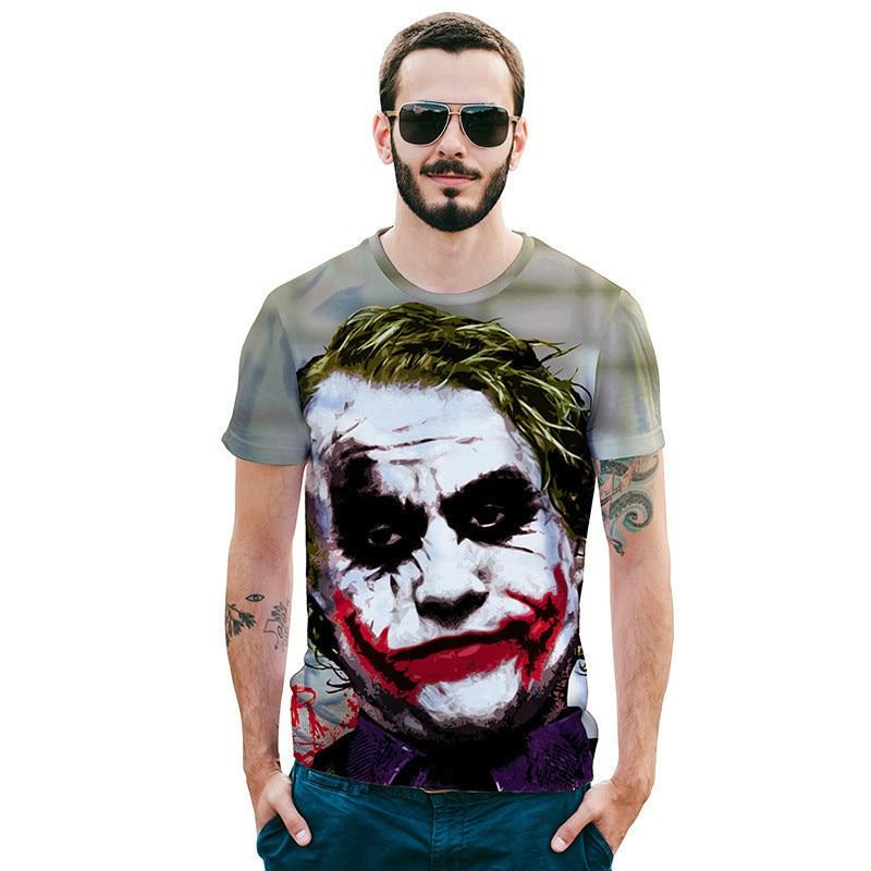 New Fashion Men Clown 3D man printed t-shirts Print Casual T-Shirt t tee shirt brand homme
