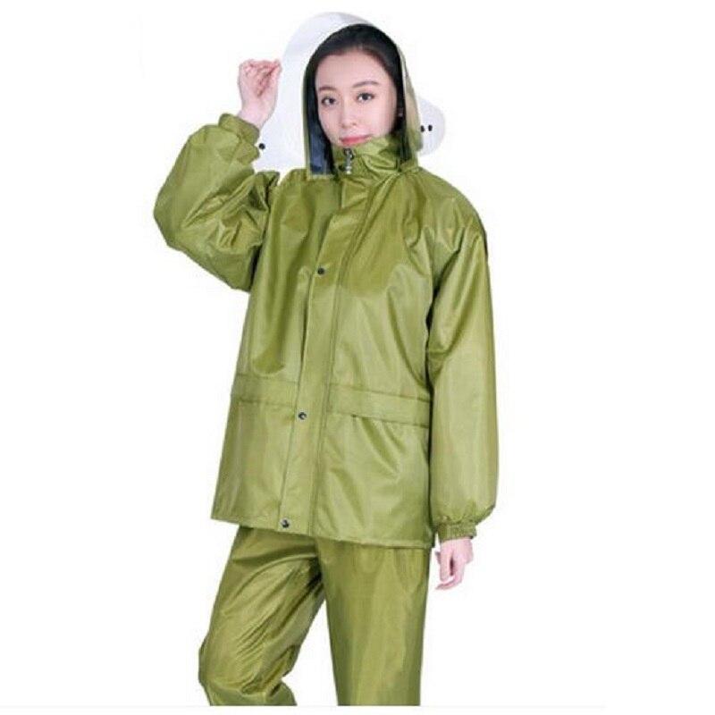 Vêtements de pluie femmes/hommes veste imperméable imperméable pluie pantalon moto/Electrombile pantalon ensemble adultes randonnée pluie manteau pluie Z712