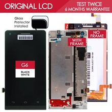 100% Tested Original 4.5 inch TFT (IPS) Screen For HUAWEI Ascend G6 LCD  Displaywith Touch Screen Digitizer Assembly with Frame