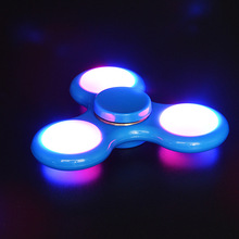 6 Colors Led Light  Plastic Toy  EDC Spinner Fidget ADHD Anxiety Stress Relief Focus Hand Spinner For Autismy Stress Wheel Toys