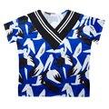 Harajuku Punky Gótico de Las Mujeres del Verano Camiseta Del Pájaro de Impresión Con Cuello En V Costuras de Manga Corta Casual Camiseta Floja Superior