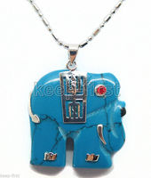 SHIPPINGFashion Women S Elephant Inlay Red Gem Eye Necklace Pendant Chain