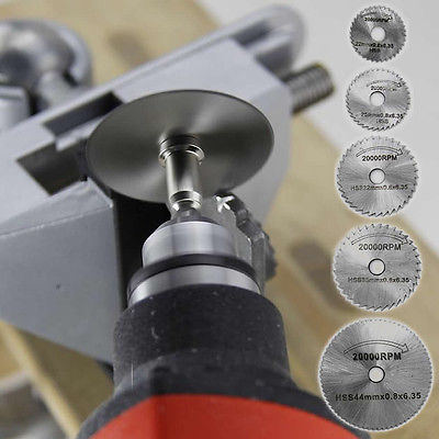 7Pcs HSS Circular Wood Cutting Saw Blade Disc Mandrels Fr Rotary Tool New