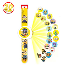 New Children Projection Cartoon Watch Boy Girl Gift Christmas Puzzle Electronic Toys 20 Projections LED Digital Watch Kids WS134