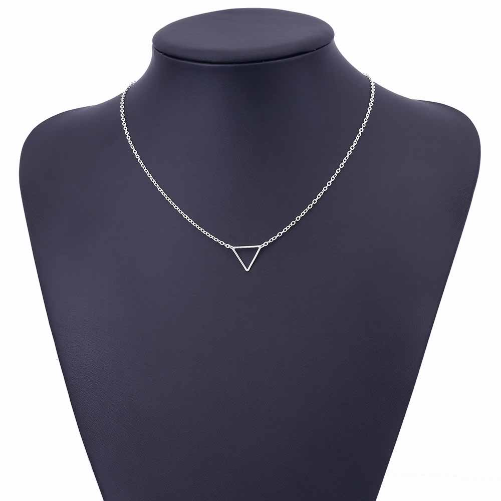 Charm necklace metal triangle Pendant Necklaces ladies gift 5