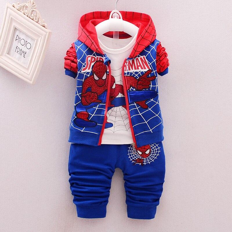 3Pcs Children Clothing Sets 2018 New Autumn Winter Toddler Kids Boys Clothes Hooded T-shirt Jacket Coat Pants