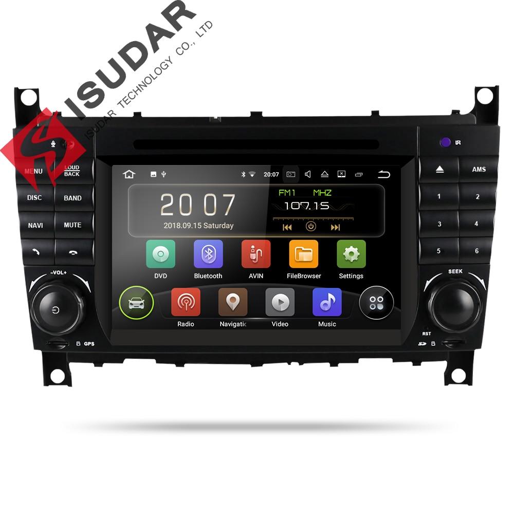 Isudar Deux Din Lecteur Multimédia Android 8.1 Lecteur DVD De Voiture Pour Mercedes/Benz/W203/CLK200/CLK22 /C180/C200 GPS Radio FM 2 GB 16 GB