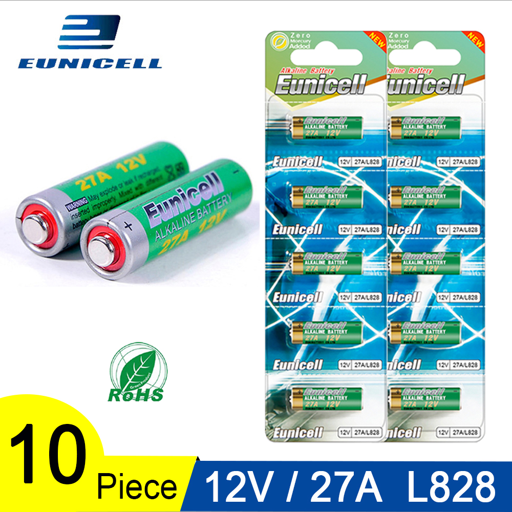 10PCS=2 Cards 12V 27A Alkaline Battery 27 A 27AE 27MN A2 L828 Small Dry Battery For Toys, Doorbell, Car Alarm, Remote Control