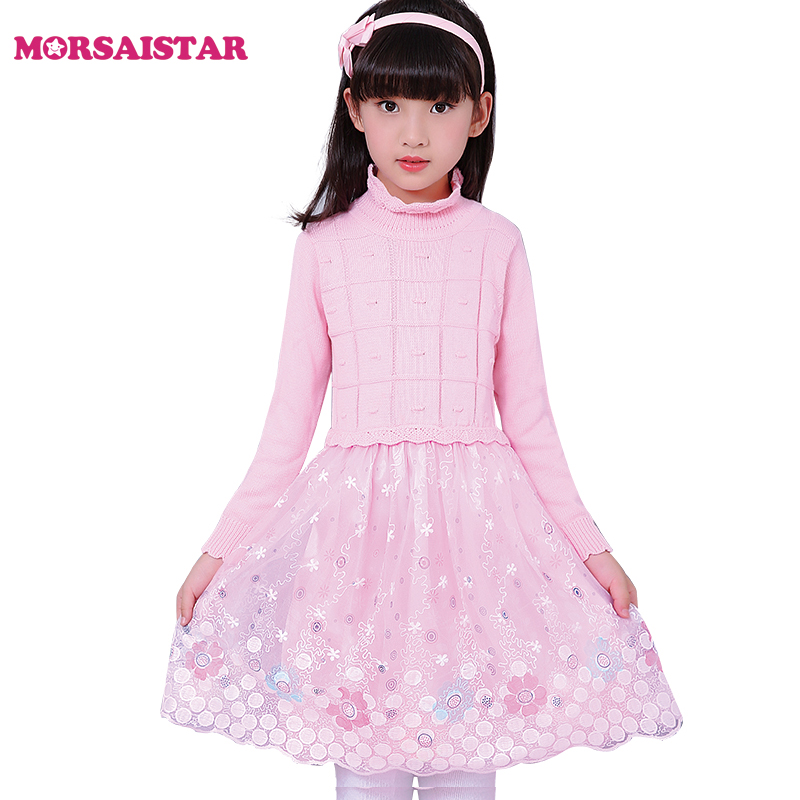 bobo chose autumn pink long sleeve school girls sweaters dresses vestido menina robe fille ropa nina trui meisjes jongens kids