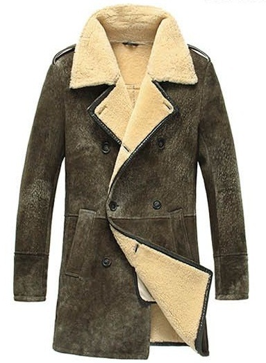 Shearling Wool Coat | Down Coat