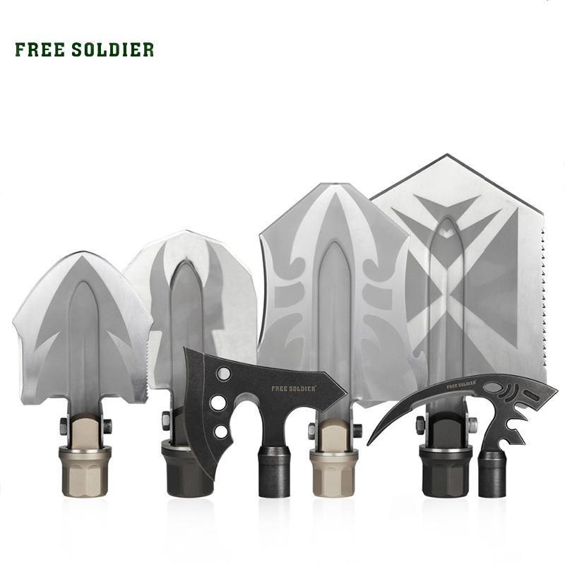 FREE SOLDIER Outdoor sports camping hiking multifunctional folding shovel surface DIY Tool Accessories Header assembly