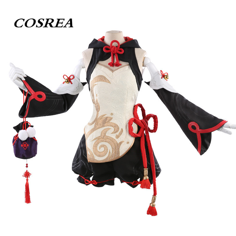 COSREA Game Honkai Impact 3 Theresa Apocalypse Cosplay Costume Chinese Knot Style Dress Costumes Halloween Party For Adult Woman