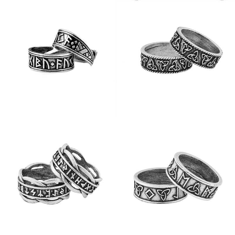 freeshipping viking rune ring celtics rings for women men punk jewelry