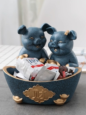 Creative Animal Storage Box Coffee Table Desktop Remote Control Mobile Phone Porch Shoe Cabinet Key Storage Tray in Storage Baskets from Home Garden