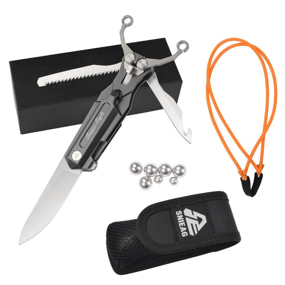 1X Sniper aigle couteau pliant Slingshot extérieur poche lame Camping chasse survie fonction couteaux Multi outil livraison gratuite