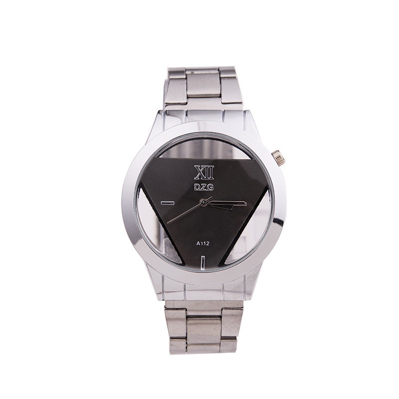 Hot sale silver triangle ladies quartz wristwatches stainless steel fashion watches womens best giftHot sale silver triangle ladies quartz wristwatches stainless steel fashion watches womens best gift