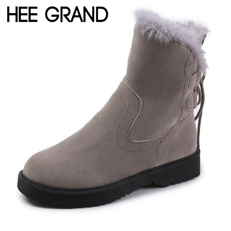 2018 Grand Xwx7236 Femmes Cuir Neige Nouvelles En gray Mujer Lacent De Mode Chaussures Hee Pu Bottes Cheville Black Avec D'hiver qF1d5Twq