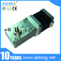 A58SW 42BY 12Volt DC Stepping Geared Motors 24V Worm Stepper Gear Motor Reduction Motor High Torque Synchronizable Self locking