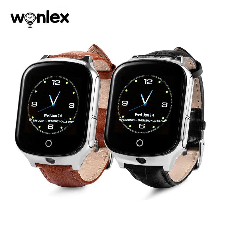Wonlex haute qualité nouveauté GW1000S 3G GPS montre intelligente A19 pour aîné avec écran tactile de l'appareil photo et comptage des étapes de santé