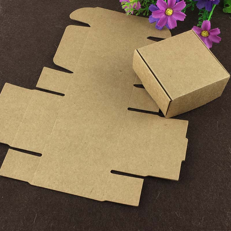 50Pcs Card Gift Boxes DIY Make Cookie Cake Packaging Boxes Biscuit Food Packing Package Idle Small Item Receiving Box