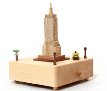 Wooden music box city style NY musical box 2014 new girlfriend gifts sweet music gifts