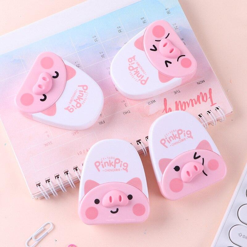 1pc Cartoon Pig Correction Tape School Stationery Corrector Tools Material Escolar Novelty Office Papeleria Kawaii Supplies Gift