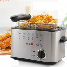 Stainless Steel Electric Deep Fryer Smokeless Multifunctional Household 1 tank French Fries Chicken Grill Frying Pan 4 kinds set цена и фото